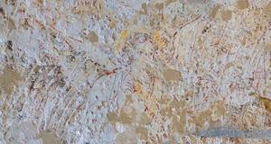 © G. Fray. - Vestiges de peintures murales découverts dans l'église de l'Abbaye du Relec.