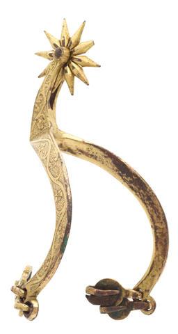 © Centre départemental d'archéologie du Finistère (CD29). - Eperon doré finement ciselé, datant de la fin du XVème siècle (Porterie).