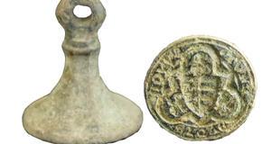 © Centre départemental d'archéologie du Finistère (CD29). - Sceau non identifié en alliage cuivreux.