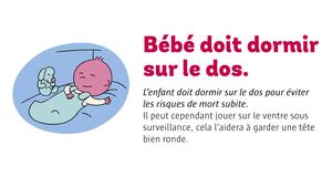 Bébé doit dormir sur le dos.